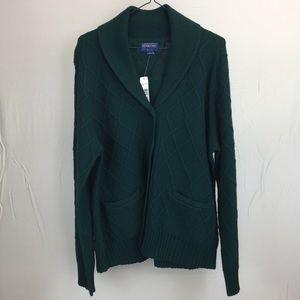 Pendleton Large Dark Green Cardigan Sweater NWT
